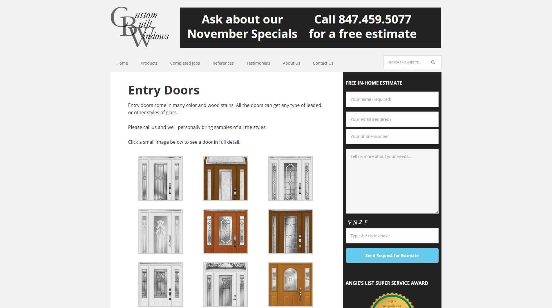 Entry Doors - Custom Built Windows Inc