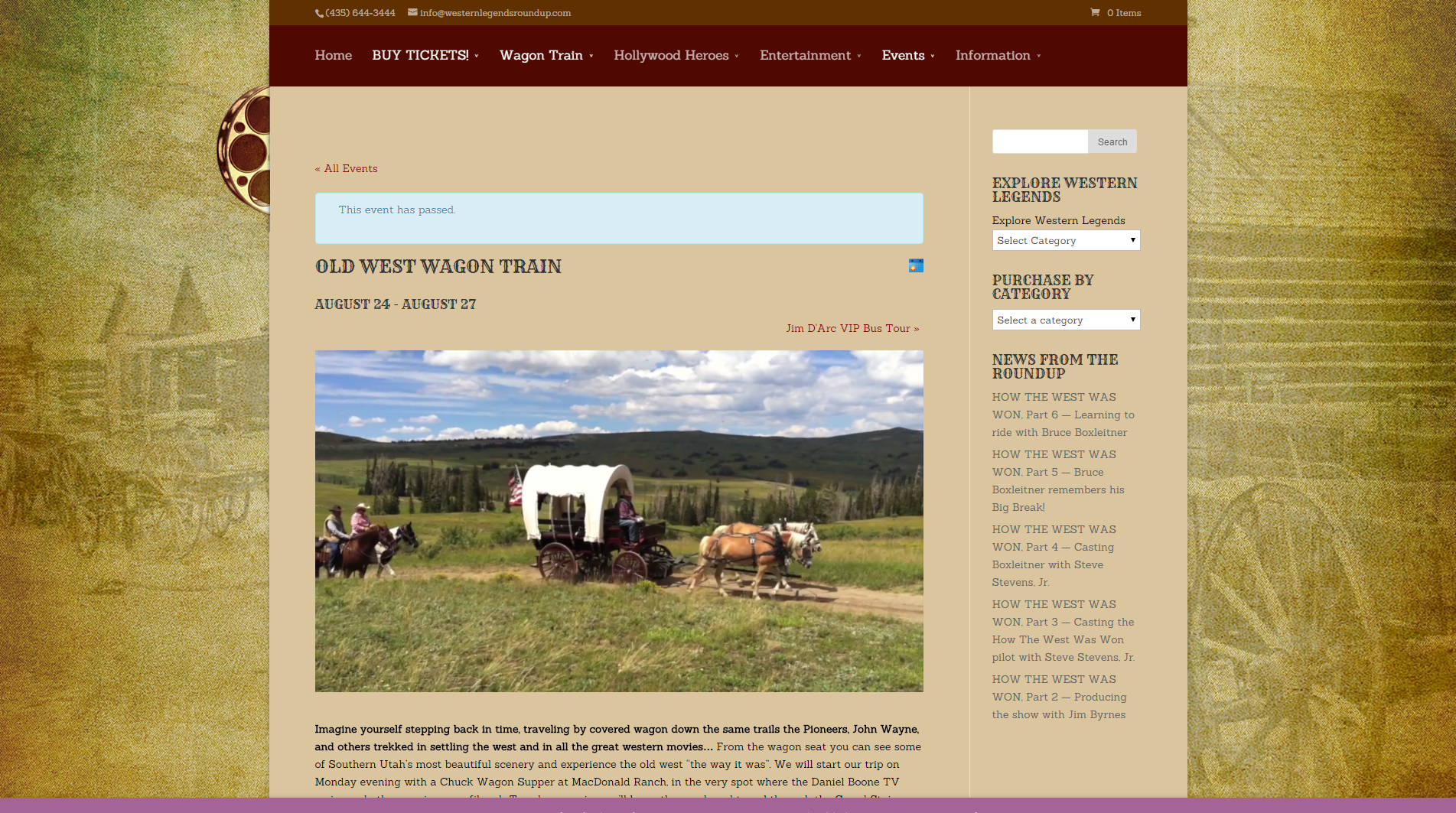Old West Wagon Train - Western Legends Roundup