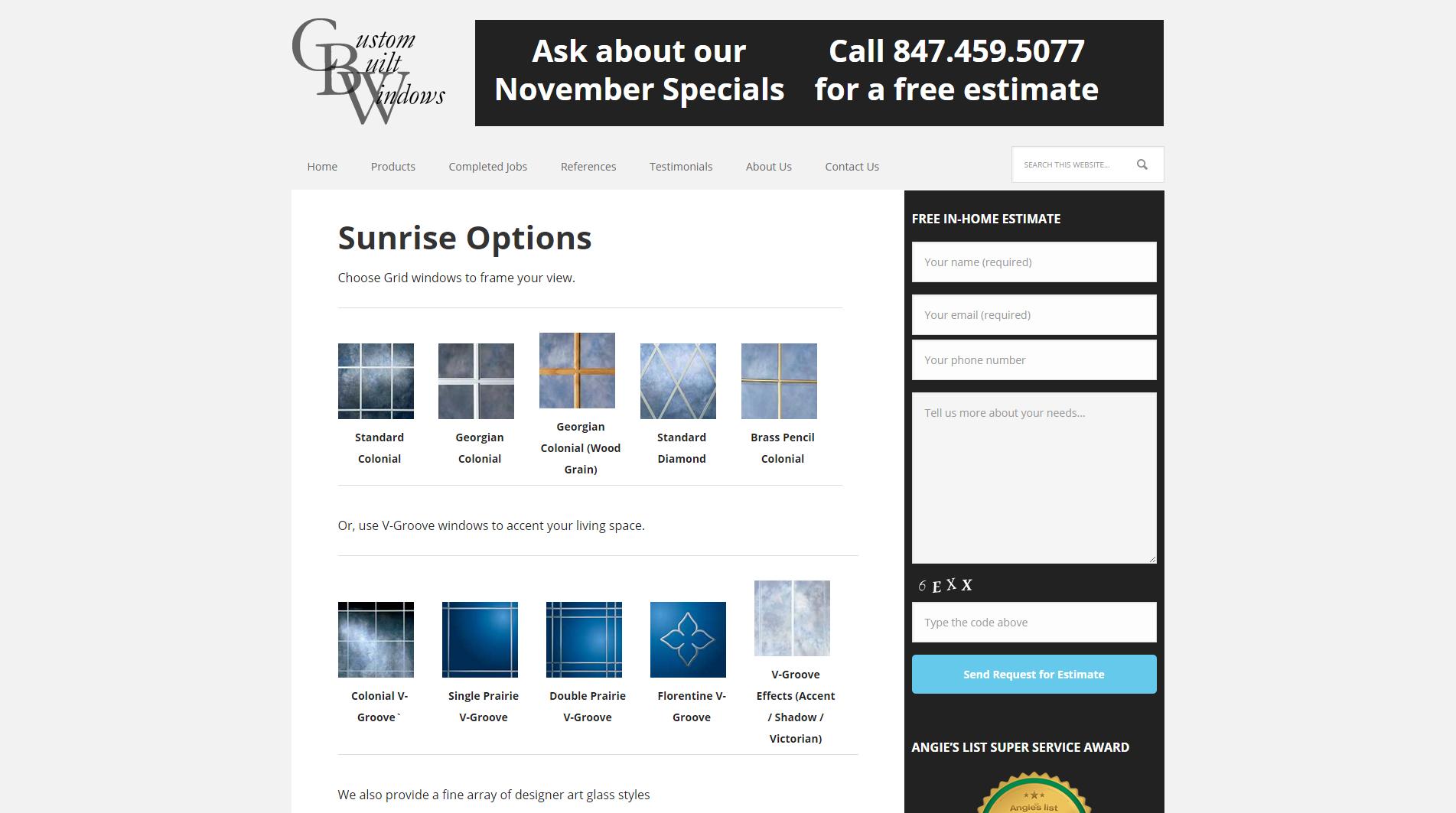 Sunrise Options - Custom Built Windows Inc