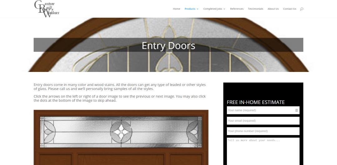 Custom Built Windows Entry Doors