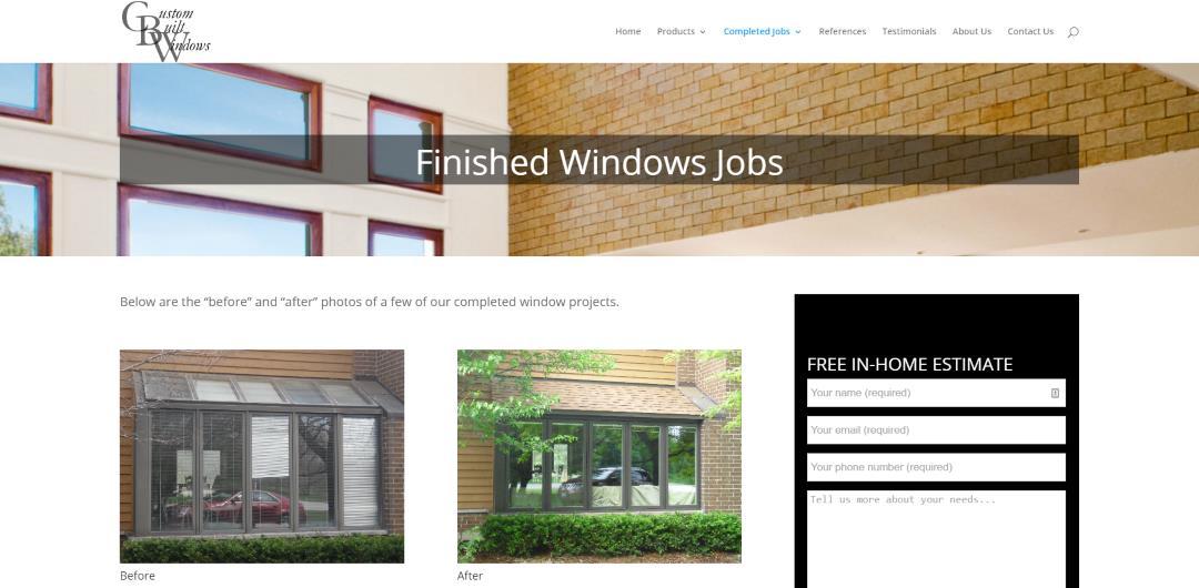Custom Built Windows Finished Windows Jobs