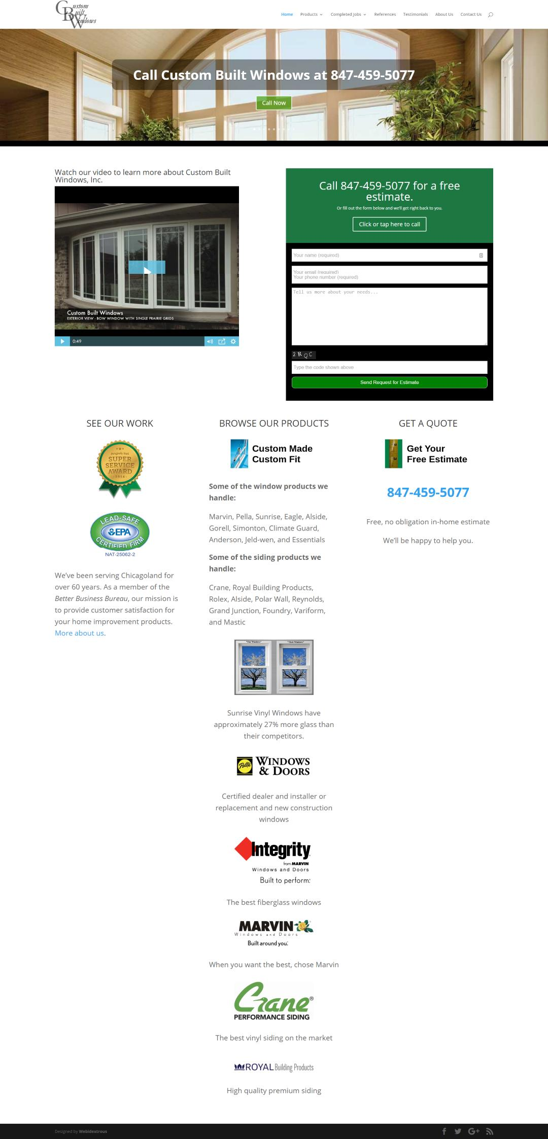 Custom Built Windows Home Page