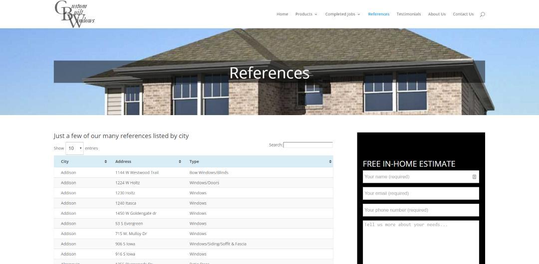 custom-built-windows-references