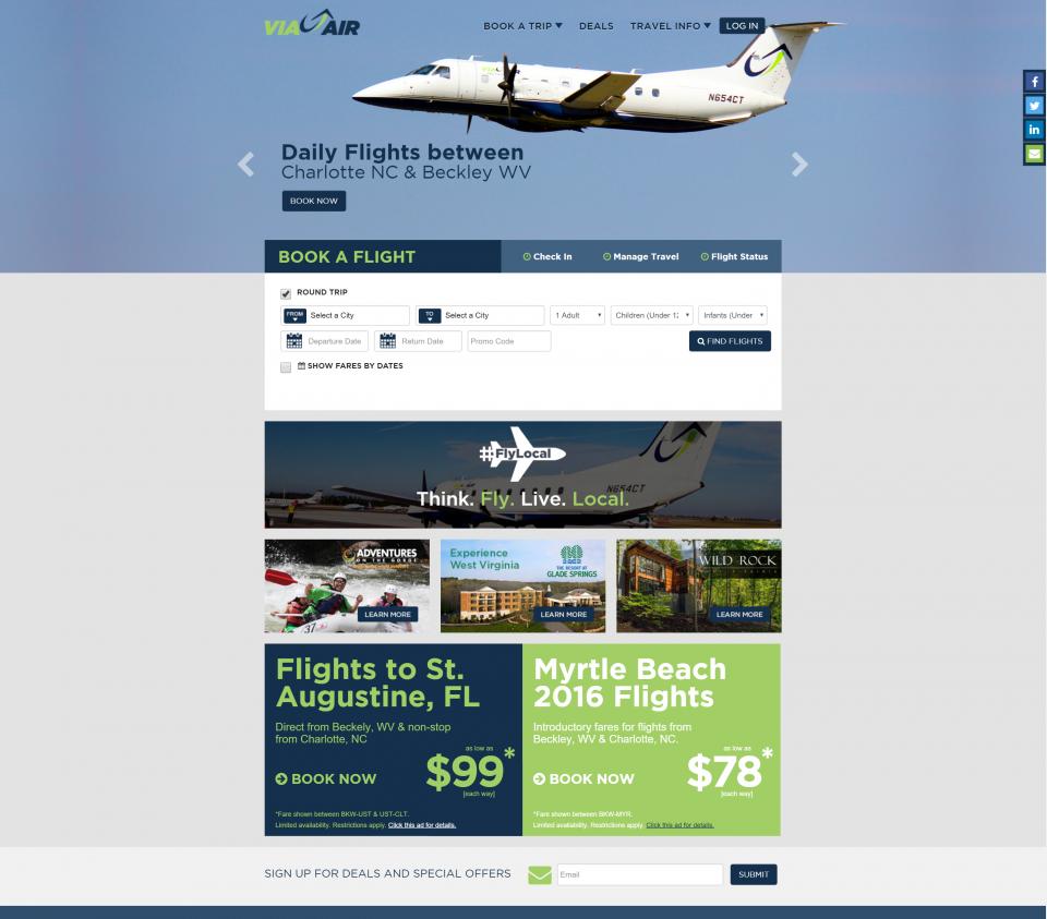 ViaAir   Above and Beyond   FlyViaAir.com