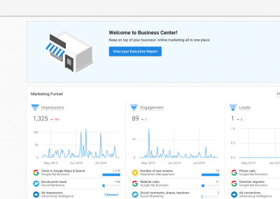 Main Business Dashboard