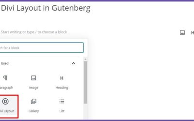 Divi Layouts in Gutenberg Are Great! Until…