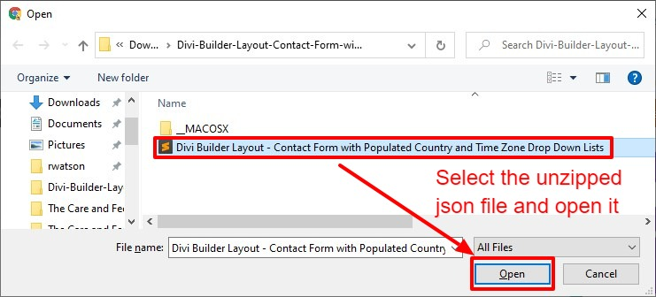 6 Steps to a Divi Contact Form with Convenient Populated Country and Time Zone Drop Down Lists 4