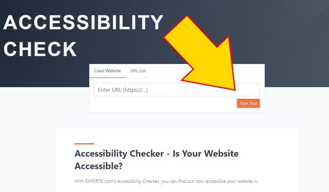5 Minute Walkthrough of Experte.com's Free Website Accessibility Checker